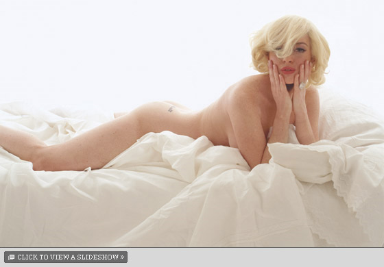 Lindsey lohan poses nude for magazine